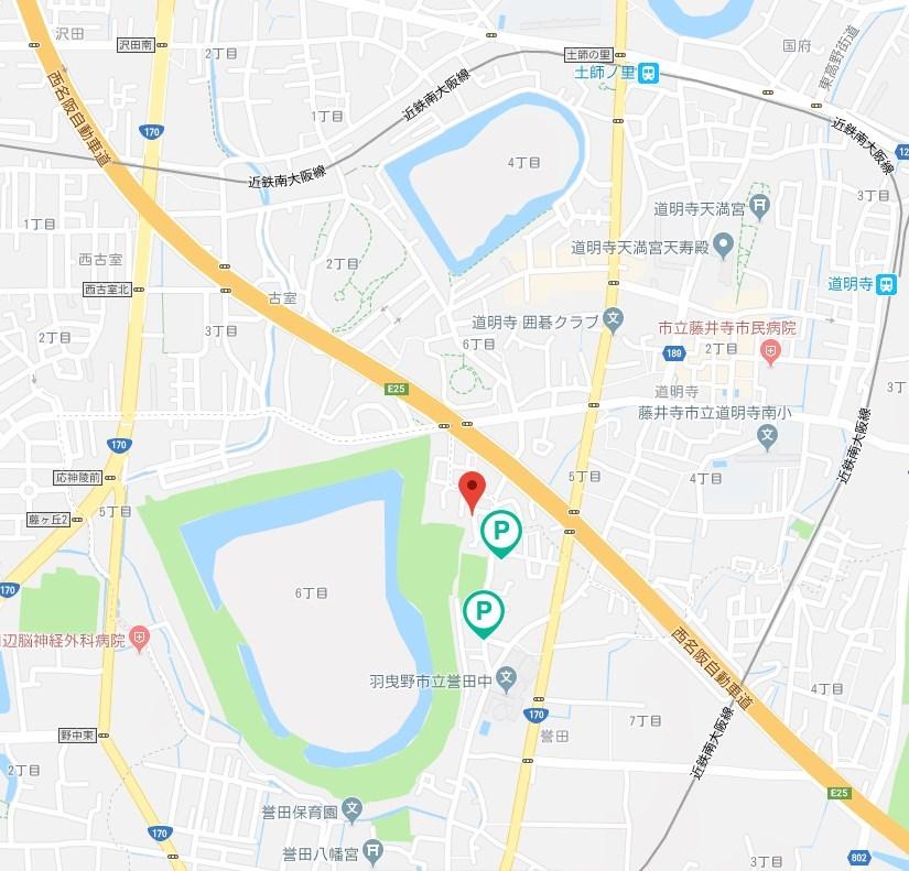 応神天皇陵古墳周辺のakippa